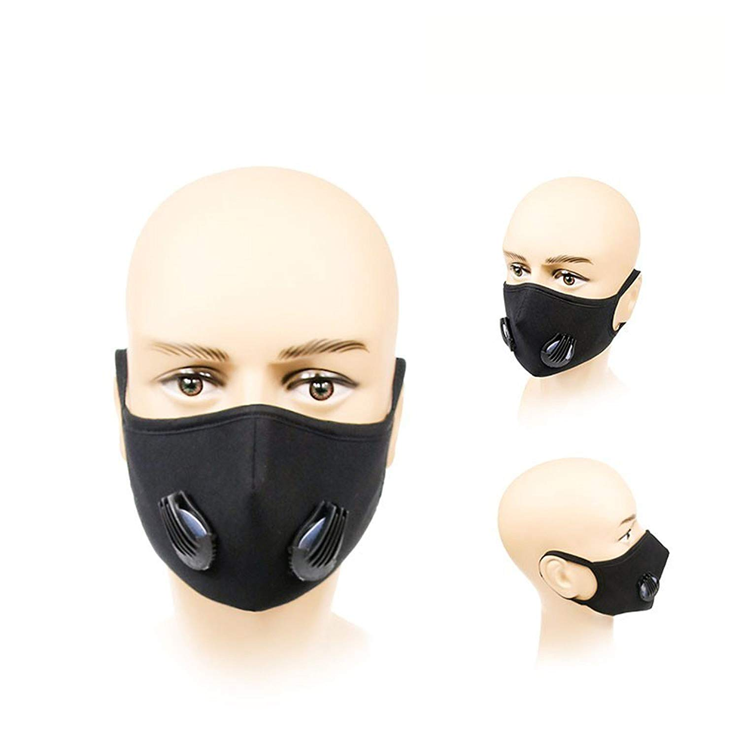 Anti-Pollution-Dust-Allergy-Smoke-Face-Mouth-Mask--PM-2-5-N99-Eco-Cotton-Mesh-with-Bonus-Filters-
