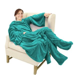 Robe Blanket with Foot Pockets