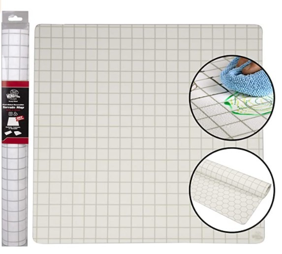 Double-Sided Role Playing RPG Game Mat- Reversible Silicone Battle Matte Grid w Hexes and Squares- XL 20 x20 -Foldable  Rollable  Wet and Dry Erase - Made For D D Dungeons Dragons  Pathfinder and More