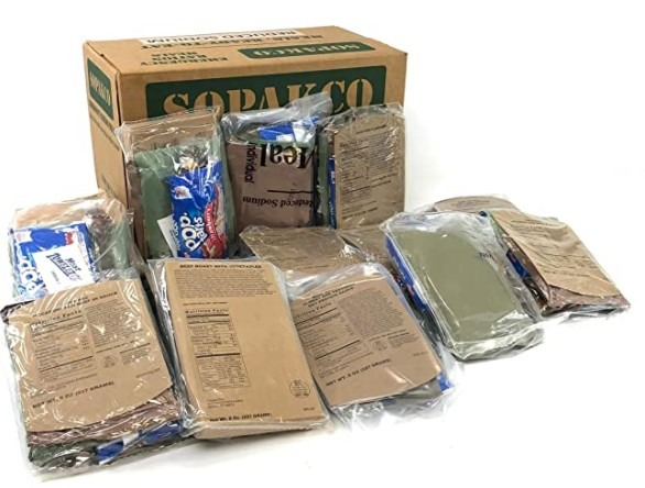 Sopakco MRE Meals Ready-to-Eat 14ct Case 10 20 Inspect Lot 7280 Reduced Sodium